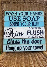beach signs home decor bathroom rules sign beach bath rustic bathroom sign by