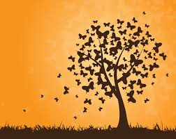 vector butterfly tree free vector 4vector