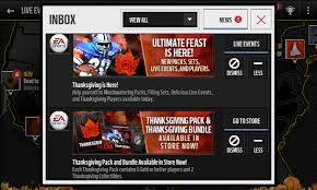 ultimate feast thanksgiving event is here for madden mobile