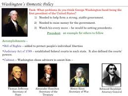 George Washingtons Cabinet Ppt Testing The Constitution