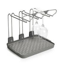 wine glass drying drainer rack holds 6 glasses