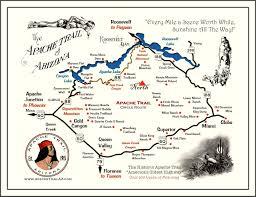 Mesa Az Map Arizona Apache Trail Apache Trail Map