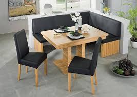 impressive design dining room booth set black leather corner bench