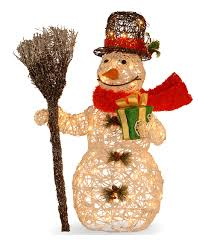 another great find on zulily white rattan light up snowman by