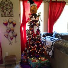 nightmare before tree topper lights decoration