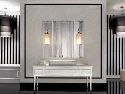 Bathroom Vanity Mirror And Light Ideas by Lighting Ideas 3 Lights Brushed Nickel Sconces Above Bathroom