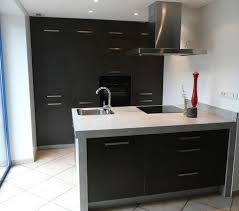 hotte cuisine ouverte aménagement coin cuisine ouverte avec ilot central intégrant