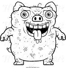 royalty free coloring sheet stock pig designs