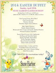Buffet Menu For Wedding by Spectacular Easter Buffet At Stone Harbor Restaurant Sturgeon Bay