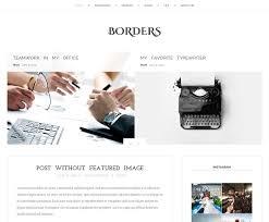 borders blog wordpress theme blog templates free wordpress