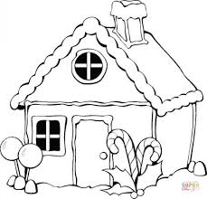 gingerbread coloring page get this simple gingerbread house coloring pages to print for