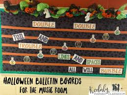 kodaly inspired classroom bulletin boards for halloween in the