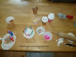 dabblingmomma ice cream and birthday cake play dough