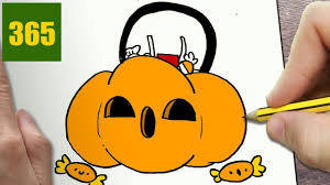 how to draw a halloween pumpkin cute easy step by step drawing