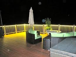 deck and balcony design with led lighting traditional porch