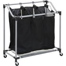 laundry sorters and hampers honey can do elite triple laundry sorter walmart com
