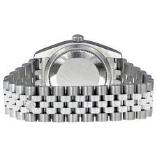 rolex bracelet white gold images Rolex datejust steel and white gold black roman dial 36mm jpg