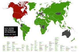un map map how the voted on palestine