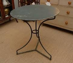 Iron Bistro Table 1900 French Painted Iron Bistro Table At 1stdibs
