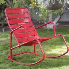 outdoor metal rocking chair modern chairs quality interior 2017