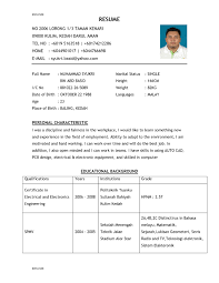 Sample Resume Simple by Resume Outline Example For A Job
