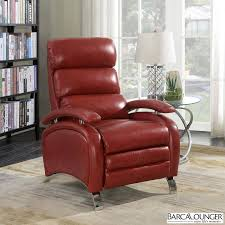 barcalounger pegasus red leather recliner chair all sofas living
