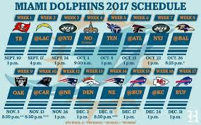 2017 nfl schedule release miami dolphins 2017 regular season schedule details here miami