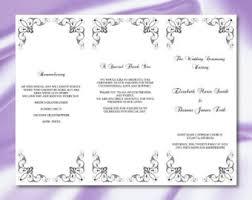 trifold wedding program tri fold wedding program templates tolg jcmanagement co