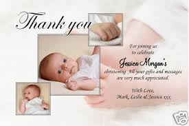 christening thank you cards personalised baptism thank you cards