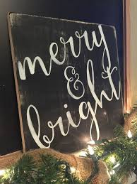 merry bright farmhouse decor merry and bright sign