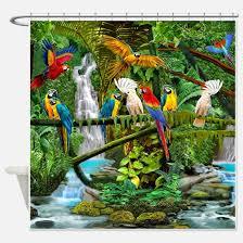 Rainforest Shower Curtain - realistic shower curtains realistic fabric shower curtain liner