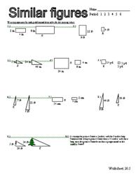 proportion and similar figure puzzle teacherspayteachers com