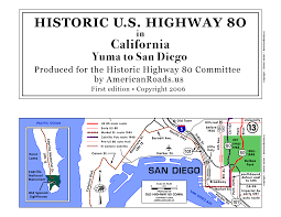 Map Of Downtown San Diego by U S Highway 80 In California At Americanroads Us