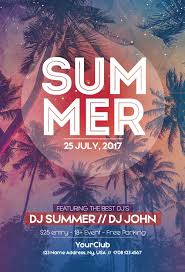 summer flyer template endless summer party flyer template