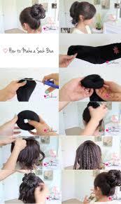 sock hair bun gallery how to make sock bun black hairstle picture