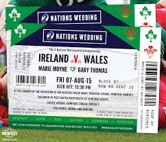 wedding invitations dublin rugby ticket wedding invitations wedfest