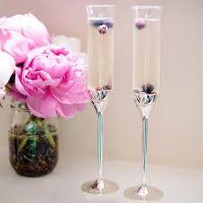 champagne flutes at linen chest