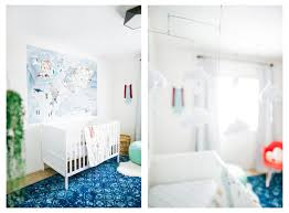 modern travel themed nursery reveal the happy camp