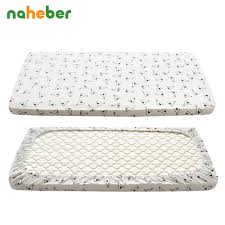 Crib Mattress Fitted Sheet Cotton Knitted Baby Fitted Sheet For Newborn Crib Mattress