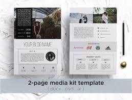 modern media kit template stationery templates creative market