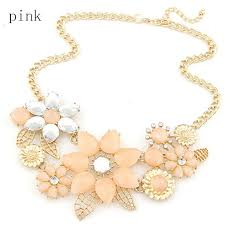 necklace rhinestone images Bright flower necklace charm rhinestone necklace jpg