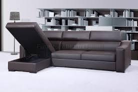 sleeper sectional sofa chocolate brown leather by j u0026m