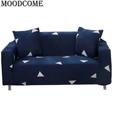 canapé polyester sofa cover elastic fabric polyester arrival navy simple housse