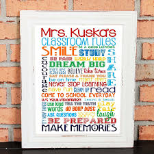 Personalized Home Decor Gifts Amazon Com Personalized Classroom Rules For Middle Or High