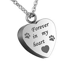 pet ashes necklace hooami forever in my heart pet paw heart urn pendant necklace