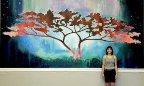 painted wall murals home interior oneness quot painted wall mural cianelli studios art blog