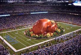 football is taking thanksgiving the web