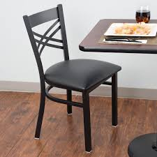lancaster table and seating table seating black cross back chair with 2 1 2 padded seat