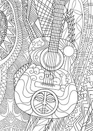 large guitar coloring page guitar coloring page music coloring pages for adults packed with