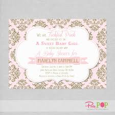 pink and gold baby shower invitations pink and gold baby shower invites isura ink